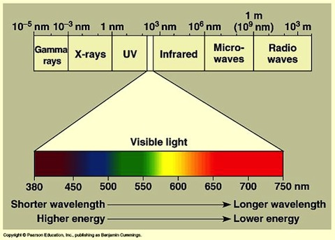 the primary properties of visible light
