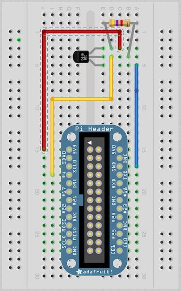 Adafruit DS18B20 wiring