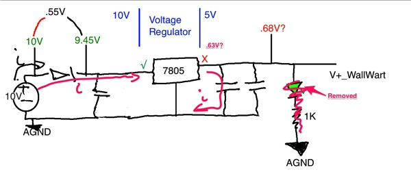 DrawingOfVoltageRegulatorCircuit