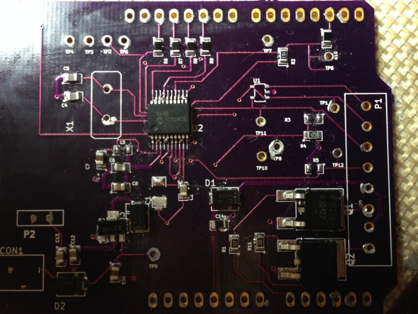 Healthy pH Shield After Stencil Solder