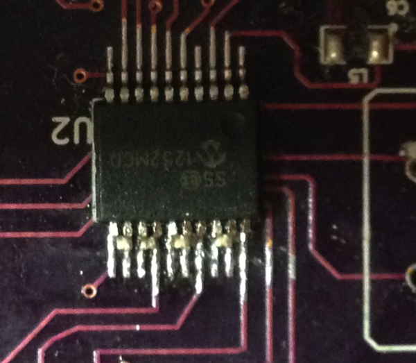 MCP3901 After Solder Wick