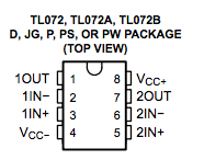 TL072 pins