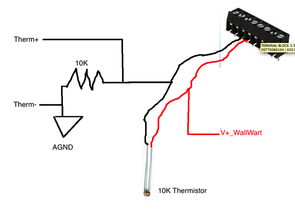 Thermistor Schematic to Real